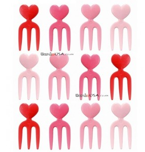 Heart fork picks