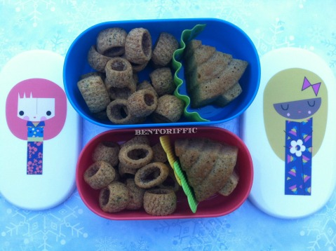 Christmas tree paperchase snack bento by bentoriffic