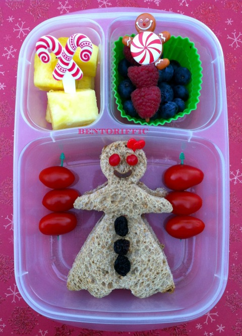Gingerbread girl bento by bentoriffic