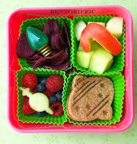 Square ornament bento lunch by bentoriffic