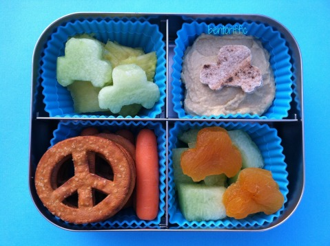 Car and hummus bento by bentoriffic