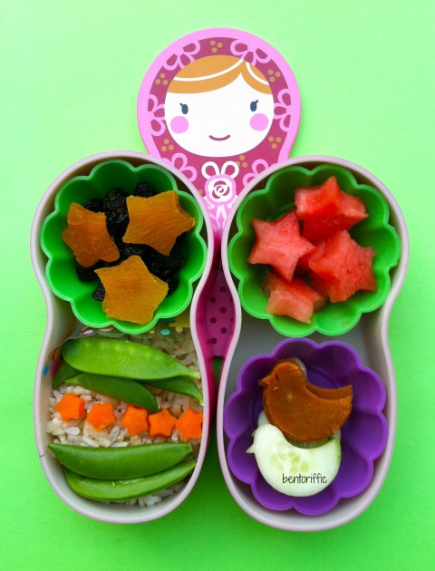 Matryoshka with stars bento