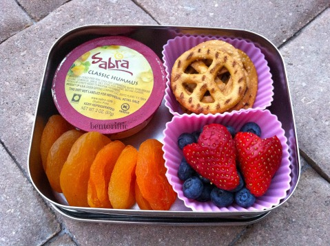 Sabra & peace pretzel snack bento